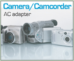 Camera/Camcorder AC Adapters provided by LCDPayLess.com