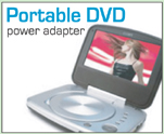 Portable DVD Power Adapters provided by LCDPayLess.com